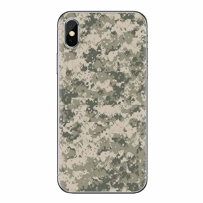 Per Huawei Compagno Honor 4C 5C 5X6X7 7A 7C 8 9 10 8C 8X20 lite Pro Morbido Trasparente Borsette Coperture Army Camo Camouflage