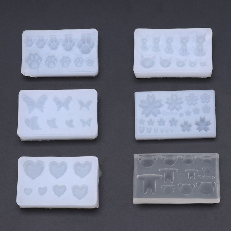 Silicone Mold DIY Crystal Jewelry Making Tool Nail Beauty Epoxy Resin Cute Bear N58F