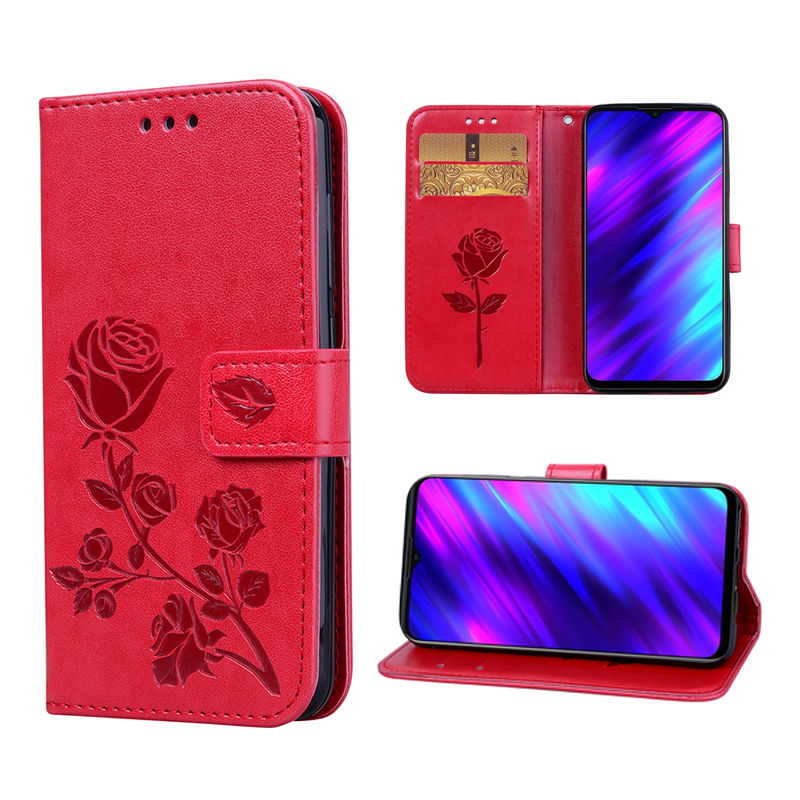 Wallet Case for Meizu M10 2019 Funda Book Stand Magnetic PU Leather Flip Case Cover For Meizu M10 Silicone Case Protective Cover