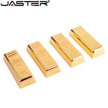JASTER Unidad Flash USB 2,0 dorada, 4GB, 8GB, 16GB, 32GB y 64GB, lápiz de memoria metálico, regalos