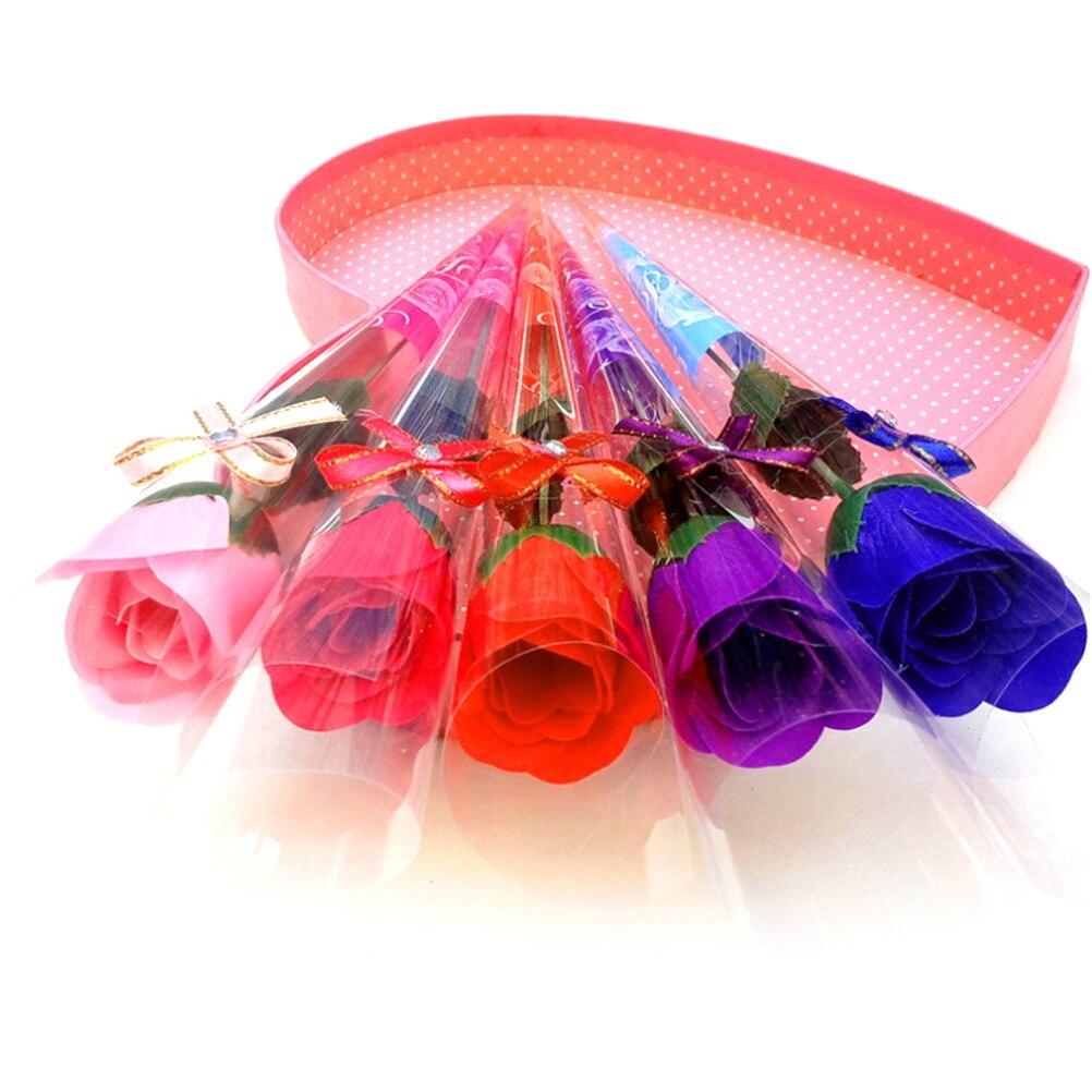 5шт% 2FSet +Роза Мыло Цветок Аромат Ванна Мыло Лепесток с Подарком Коробка Для Матери День Свадьба Валентина День Учитель% 27s День Подарок