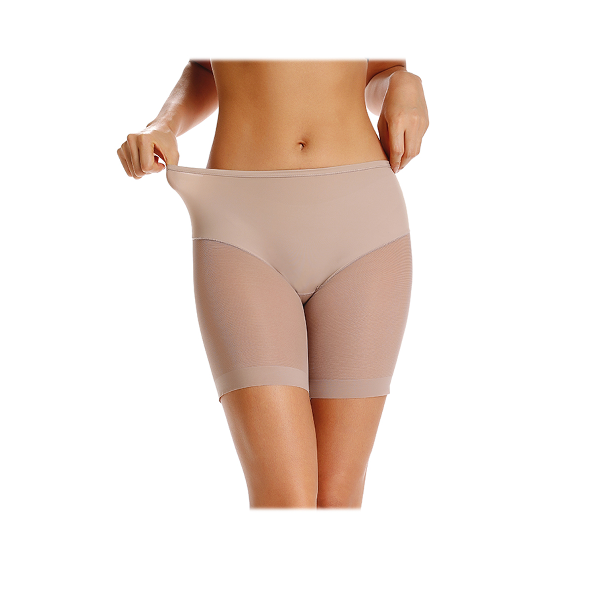High Elastic Women Compression Control Panties Anti Chafing Lace Thigh Boyshorts