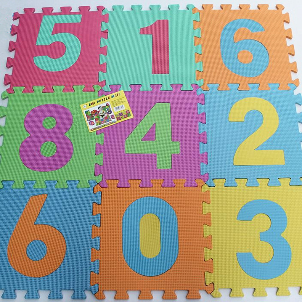 10pcs/Set Numbers Cartoon Animals EVA Children Foam Pad Baby Crawling Mat Puzzle Floor Protector Random Color Hot Sale