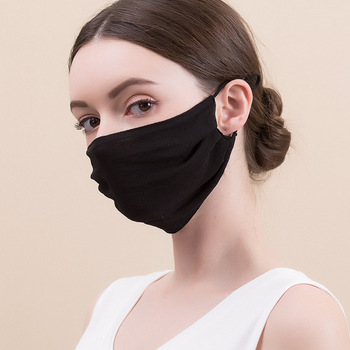 Women Face Mask Breathable Double Layer Thin Comfortable Washable Breathing 100% Mulberry Silk Men Real Silk Sun-resistant Masks