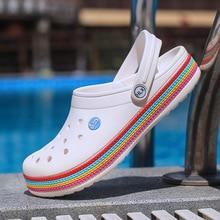 Slippers Women Mens Sandals Summer Shoes Hole Shoes Male Men Sandals New 2020 Crocse Clogs Beach Sho