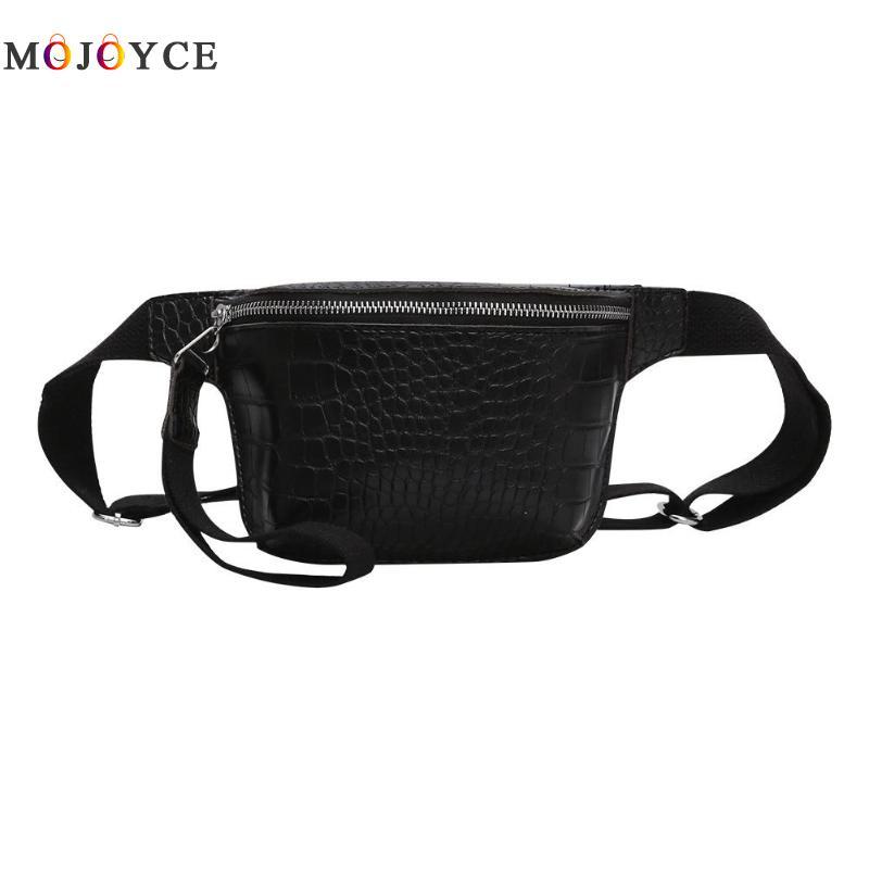Alligator Pattern Women Waist Bag PU Leather Flap Belt Bags Female Fanny Pack Nerka