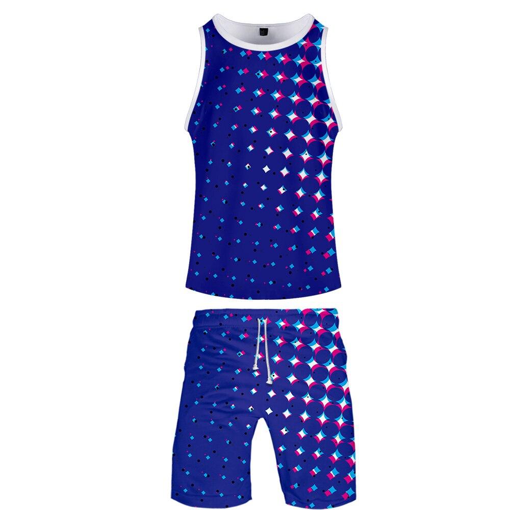 Beach Shorts Tank Top Vest Sets MEN/WOMEN Pop Style Sport Gym Shirt Cool Summer XXXXL-XXS Bedding Sandbeach Seabeach Travel