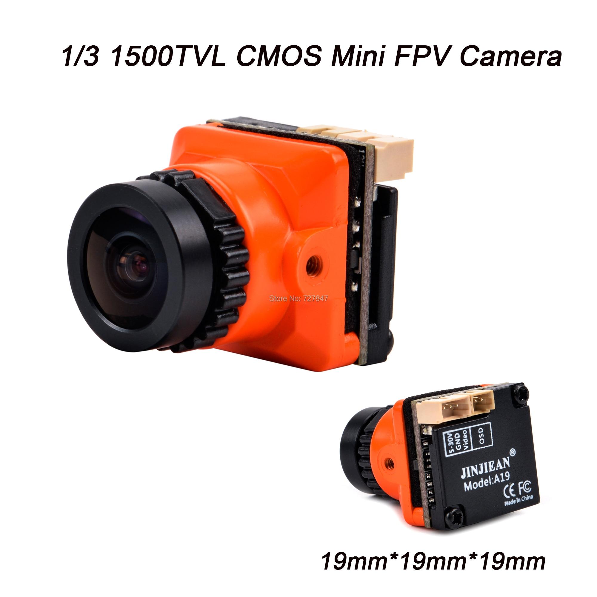 Новая Мини FPV камера 1/3 CMOS 1500TVL B19, мощность объектива 2,1 мм, 5 в-30 в PAL / NTSC с OSD, Внутренняя регулировка для RC FPV Racing Drone