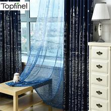 Topfinel затемненные шторы для гостиной, детские шторы для детской комнаты, спальни, мультфильм, шторы с замками, милые шторы, подарок