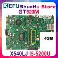 KEFU Für ASUS GT920M X540L X540LJ F540L F540LJ CPU/I3-4005U 4 gb/Speicher laptop motherboard getestet 100% arbeit original mainboard