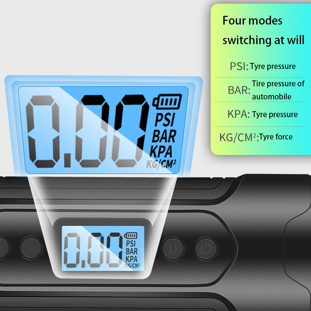 Mini Portable Electric Air Pump with Tire Gauge and USB for Car and Bicycle