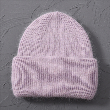 Casual Women's Hats Cashmere Wool Knitted Beanies Autumn Winter Brand New Three Fold Thick 2020 Knitted Girls Skullies Beanies 14