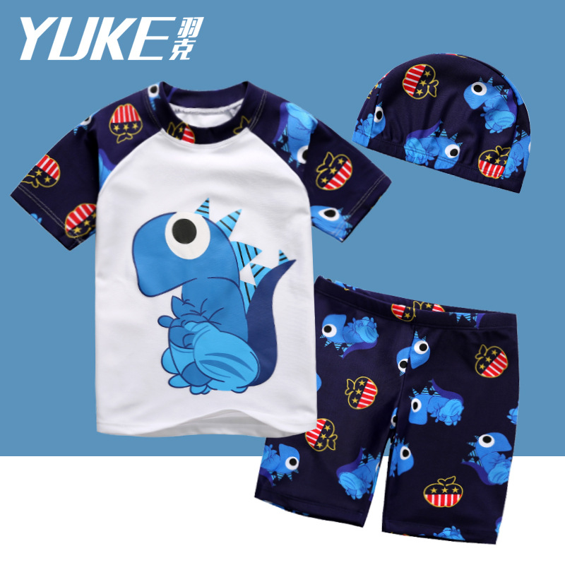 Yuke KID'S Swimwear Big Boy BOY'S Split Type Dinosaur Sun-resistant Quick-Dry Tour Bathing Suit Baby Kids Swimwear