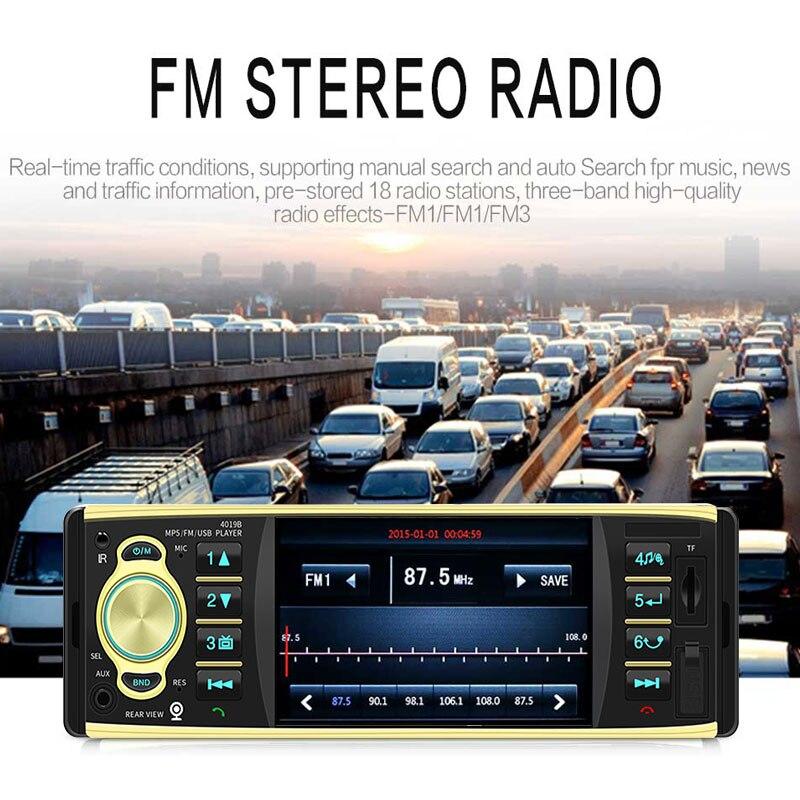 2019 4.1 pouces voiture MP5 lecteur Durable Bluetooth FM Radio stéréo MP5 pour la livraison directe de vidéo de musique