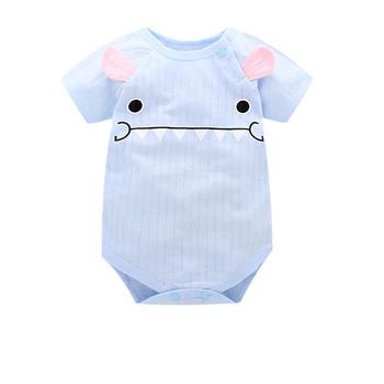Lato noworodek dziewczynek odzież dla niemowląt kombinezon Romper komplet garniturów dla dzieci kombinezon dla niemowląt ubranka dla niemowląt Baby Girl pajacyki tanie i dobre opinie Unini-yun COTTON Cartoon Unisex Przycisk zadaszone Krótki O-neck 6688 Pasuje prawda na wymiar weź swój normalny rozmiar