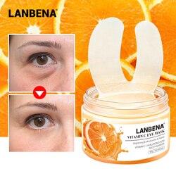 LANBENA 50PCS Vitamin C Eye Mask Eye Patches Serum Remove Eye Bag Eye Lines Improve Dark Circle Firming Brighten Lifting Repair