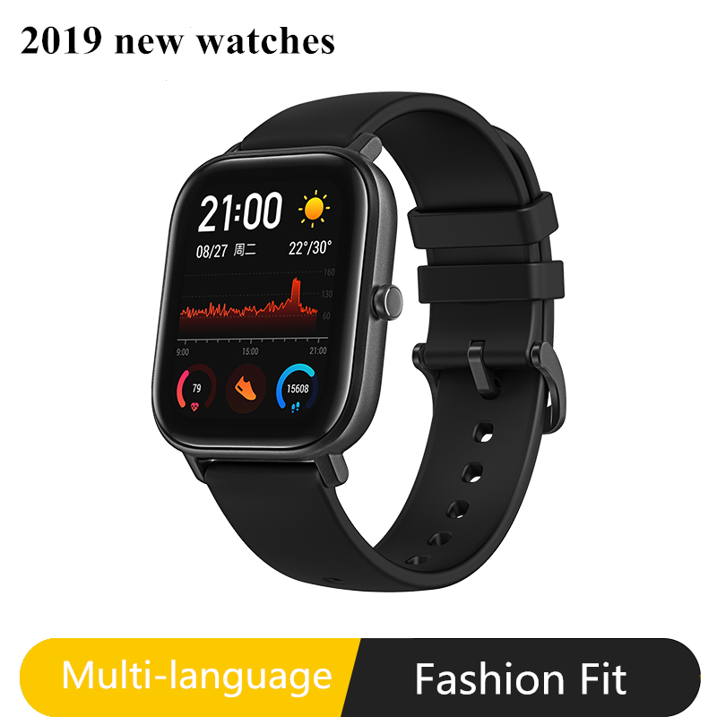 2019 Global Version GTS New Smart Watch 5ATM Waterproof Swimming Smartwatch 14Days Battery Music Control for Xiaomi IOS Phone