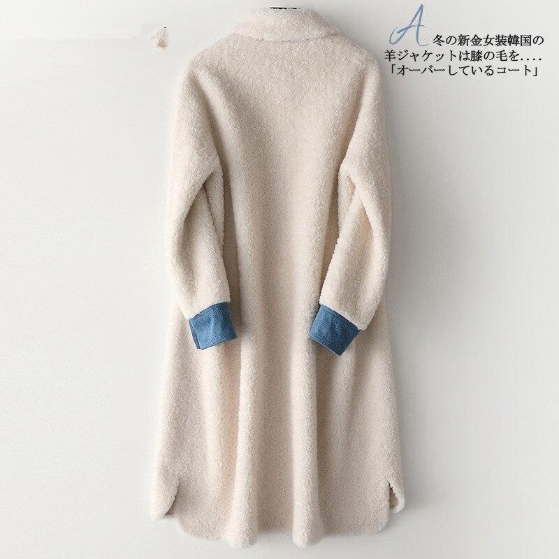 Coat Fur Real Female Sheep Shearling Fur Jackets Winter Jacket Women 100% Wool Coats And Jackets Women Outwear MY3909 S