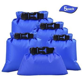 TOMSHOO 5 sztuk pływanie wodoodporne torby do przechowywania suche worki opakowanie torby do przechowywania aparatu żeglarstwo Drifting torby sportowe na zewnątrz wody tanie i dobre opinie NZ (pochodzenie) Torba na ramię Storage Bags
