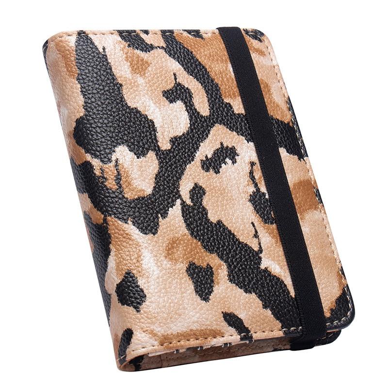 Zoukane Leopard Python Pattern Elastic Straps PU Leather Passoport Cover Case Holder Wallet Travel Accessories ZSPC64