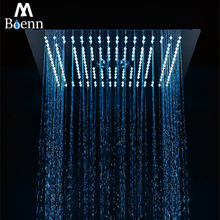 Rainfall Showerhead Concealed Mount LED Misty Bath Shower 304 Stainless Steel Polished Bathroom Rain 64 Colors Over-heads