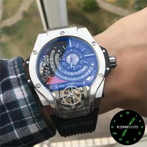Mens Watches Mechanical-Watch Automatic Top-Brand European-Design Luxury Runway WZ09174