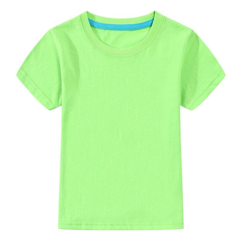 T-Shirt Tops Clothing Short-Sleeve Girls Teens Boys Children Cotton Summer Solid
