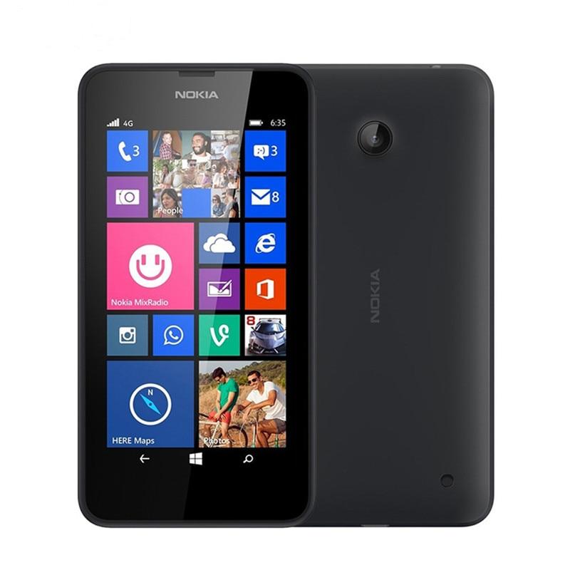 "Nokia Lumia 635 мобильный телефон Windows OS 4,"" четырехъядерный 8G rom 5.0MP wifi gps 4G LTE разблокированный мобильный телефон - Цвет: Black"
