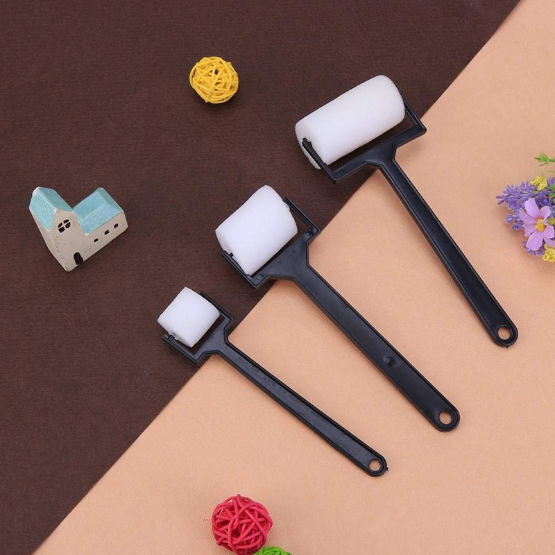 3Pcs/Set White Sponge Paint Brushes Children Graffiti Roller Stamp Kids Painting Toy Drop Ship