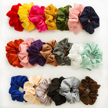 For Women Girls Elastic Headband Hair Rubber Bands Pure Color Scrunchie Hair Tie Hair Rope Ponytail Holder Gum Hair Accessories