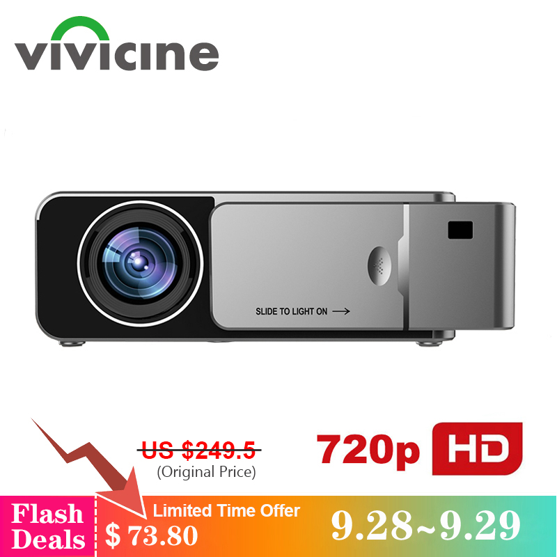VIVICINE 1280x720p Portable HD Projector,Option Android 7.1 HDMI USB 1080p Home Theater Proyector WIFI Mini Led Beamer 90 corner clamp shopify
