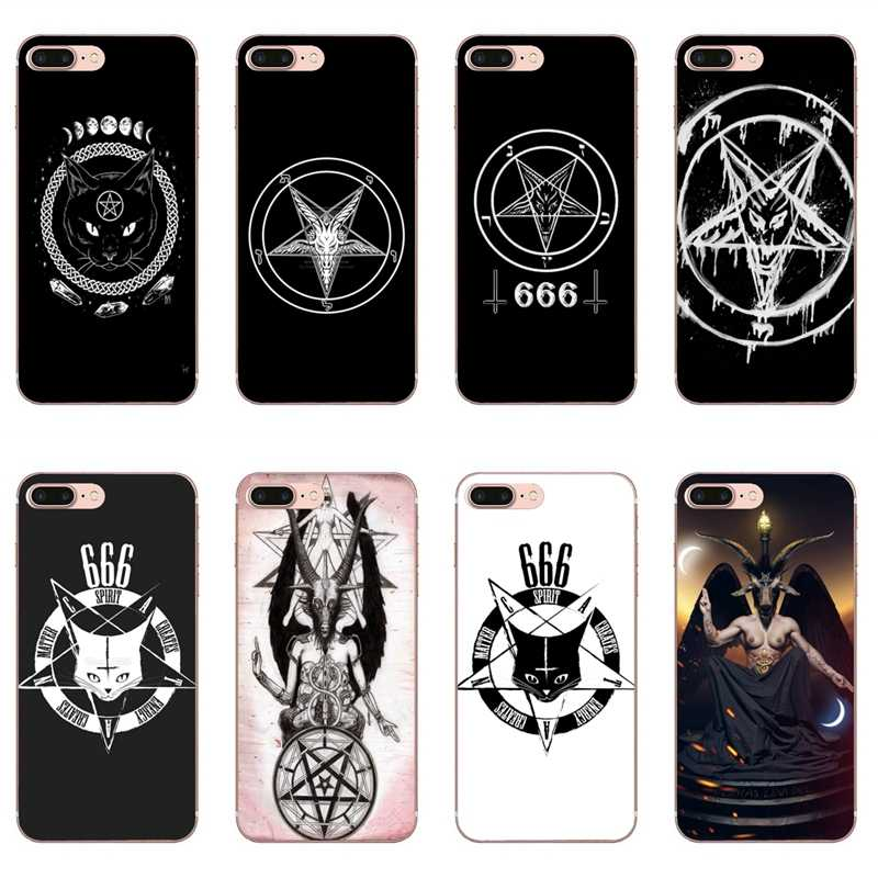 Pentagram 666 Demonic Satanic Case for iPhone 11 Pro XS Max XR X 8 7 6 6S Plus 5 5S SE Silicone Soft Cover Case
