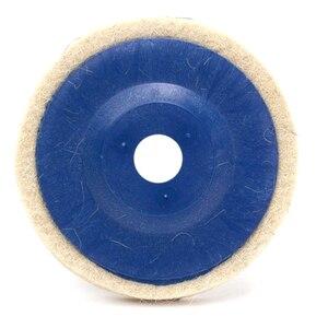 Image 4 - 100มม.ล้อขัดขัด Beige Buffing แผ่นบดเครื่องบดมุมล้อ Felt Polisher Disc สำหรับเซรามิคแก้วโลหะพลาสติก