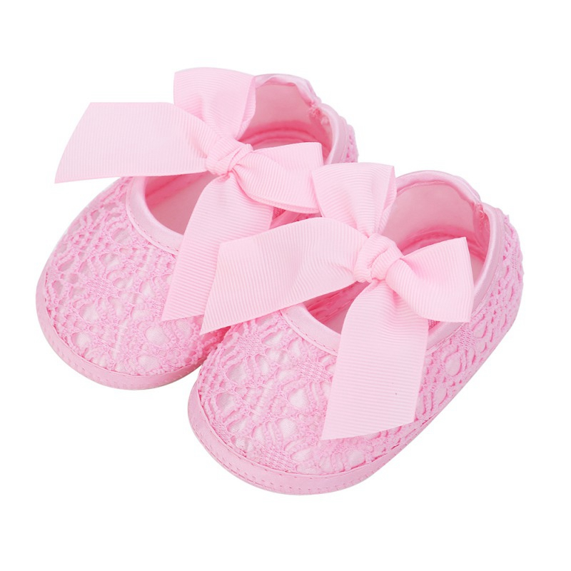New Newborn Infant Baby Soft Sole Crib Prewalker Girl Shoes Toddler Anti-Slip Bowknot First Walkers Summer 0-18M