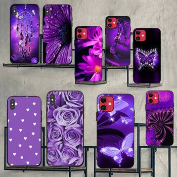 CUTEWANAN infinity on purple Black TPU Soft Rubber Phone Cover for iPhone 11 pro XS MAX 8 7 6 6S Plus X 5S SE XR case image