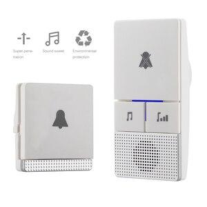Wireless Self Generation Doorbell Home Smart Electronic Remote Control Long Distance Door Chime Waterproof 38 ring tones