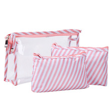 Buy 3Pcs/Set Cosmetic Bags Makeup Toiletry Bag Clear PVC Travel Wash Bag Holder Pouch Kits Outdoor Portable Case Organizer directly from merchant!