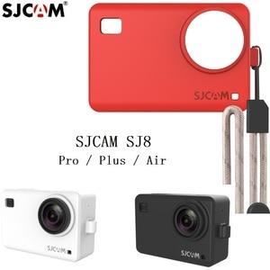 Image 3 - Originele Accessoires SJCAM Siliconen/Mouw + Pols Touw/Lanyard Beschermhoes/Frame/Cover/Grens voor SJ8 Pro Plus Actie Camera