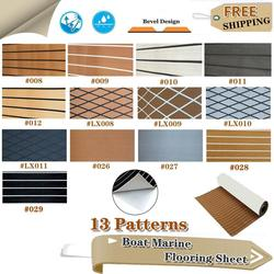 13 Patterns Self-Adhesive Deluxe Marine Boat Flooring Sheet Faux Teak EVA Yacht Foam Boat Decking Sheet Mats Accessories Marine