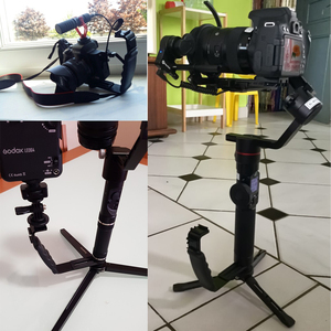Image 5 - Camera Accessories L Flash Bracket With 2 Hot Shoe Mounts For Camcorder Microphone Dslr Canon/Nikon/Sony/Yongnuo/Flash Stand