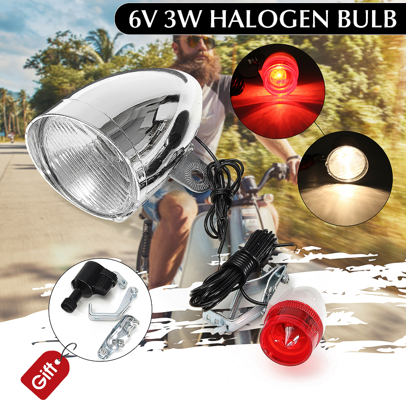 1Set 6V 3W Bicycle Bike Motorbike LED Headlight...