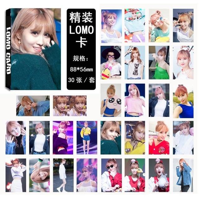 30 pièces/ensemble Kpop deux fois MOMO ensemble de photocartes unique nouvel album HD bonne qualité mode deux fois Kpop ensemble de cartes photo pour la collection des fans