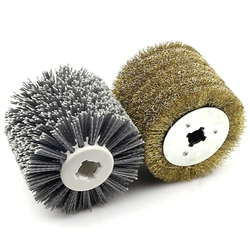 WSFS Hot 2 in 1 Woodwooking Polishing Wheel Brush 120x100x19Mm Drum Sander Tools for Woodworker