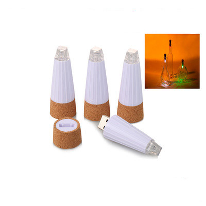 Explosion-proof LED Bottle Stopper Lamp USB Charging Luminous Bottle Cap Suitable For Bar Bedroom Bedroom Decorative Lighting