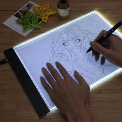 A4 LED Light Box Digital Graphic Tablet Drawing Writing Tablet Newest Hot Tracing Copy Pad Work Board With Diamond painting Tool
