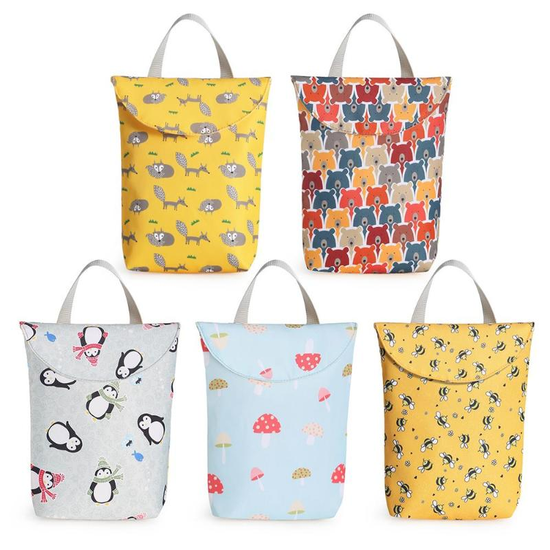 Baby Diapers Bags Excellent Polyester Cotton Composite Fabric Mother Organizer Reusable Waterproof Storage Nursing Backpack