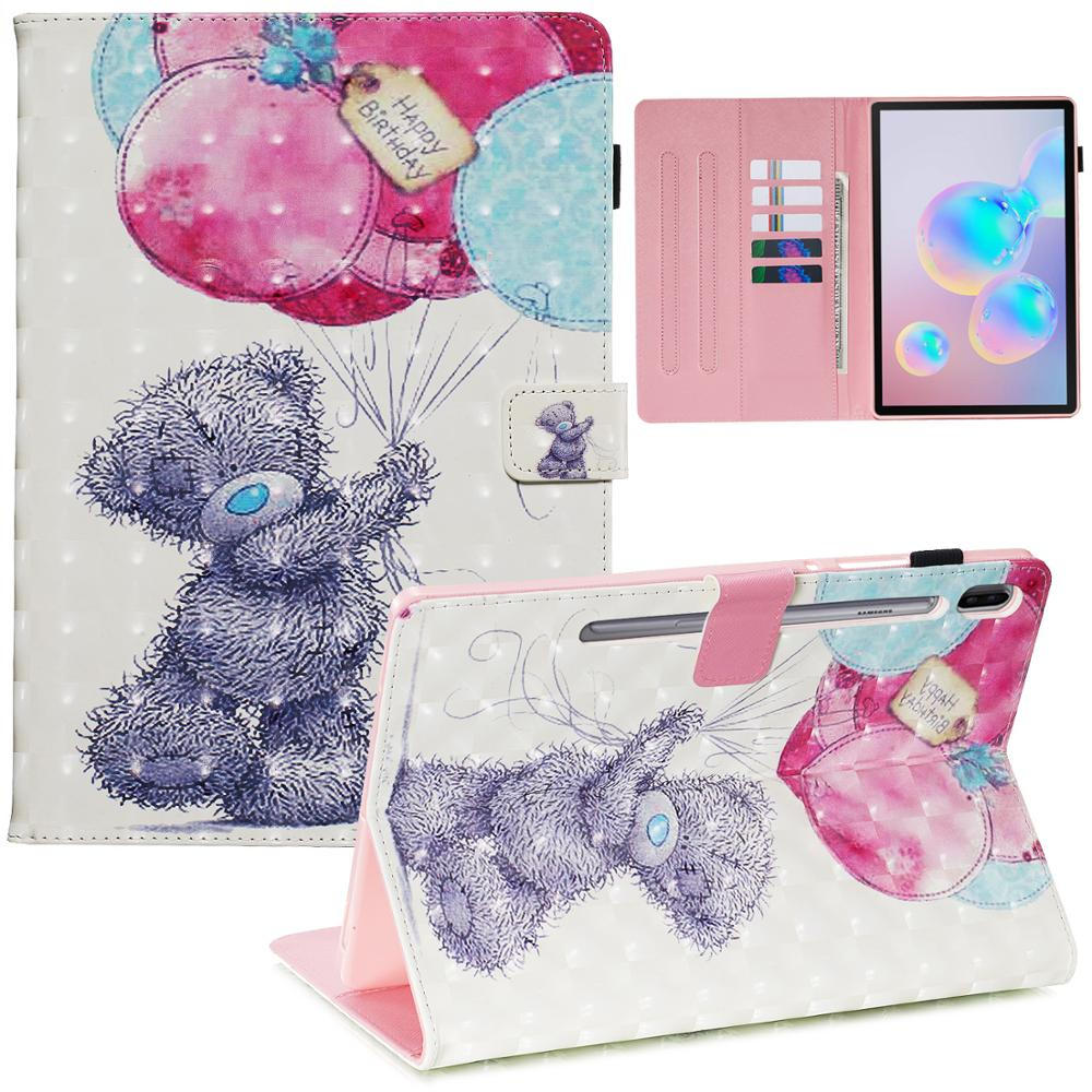 Tablet Case For Samsung Galaxy Tab S6 SM-T860 SM-T865 Smart Book Cover Cases 10.5Inch Flip Stand Funda Shell