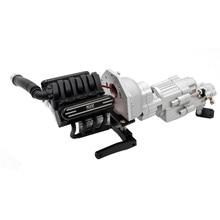 V8 Motor Dubbele Snelheid Versnellingsbak Wavebox Met Koeler Heatsink voor KYX 1/10 SCX10 II 90046 RC Onderdelen fit 36mm motor