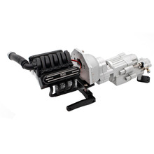 V8 Motore A Doppia Velocità Cambio Wavebox Con Dispositivo di Raffreddamento del Dissipatore di Calore per KYX 1/10 SCX10 II 90046 Parti di RC fit 36 millimetri motore