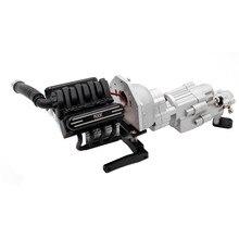 V8 motor de velocidade dupla caixa de engrenagens wavebox com refrigerador do dissipador calor para kyx 1/10 scx10 ii 90046 rc peças caber 36mm motor